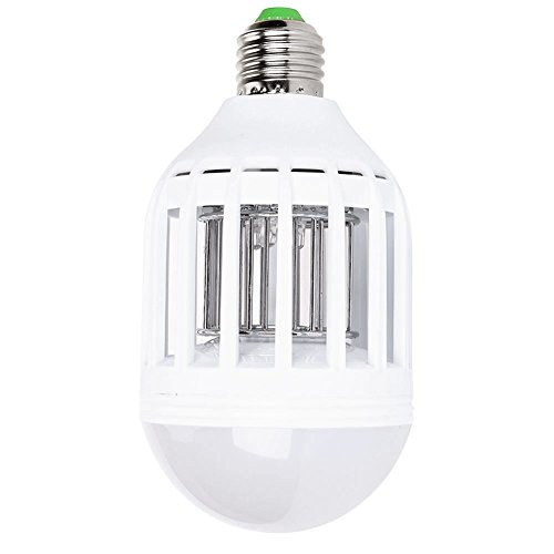 AcTopp 2 in 1 Bug Zapper LED Bulb 110v Mosquito Light Bulb Bug Zapper IndoorOutdoor Lighting Flying Insects Wasp Moths Bug Killer Cleaning Brush Included