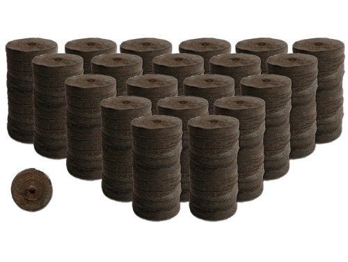 200 Count- Jiffy 7 Peat Soil 42mm Pellets Seeds Starting Plugs Indoor Seed Starter- Start Planting Indoors For