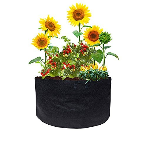 ViagrowTM 100 Gallon Fabric Root Aeration Raised Bed Planter with Handles