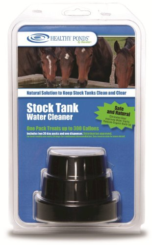 Healthy Ponds 10503 Stock Tank Water Cleaner with 2 Refills
