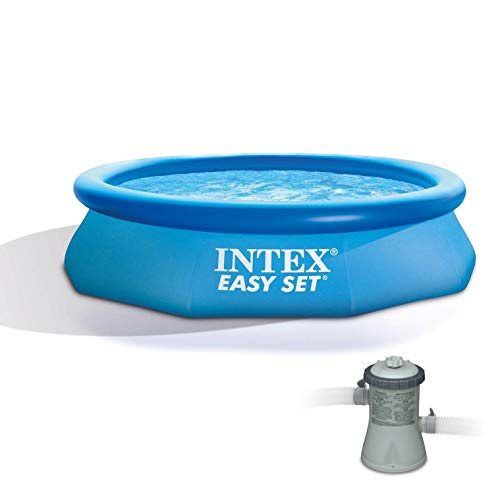 Intex 10ft x 30in Easy Set Above Ground Inflatable Family Swimming Pool Pump