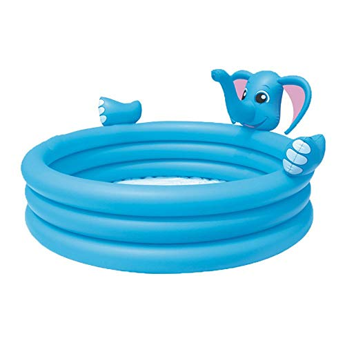 YYCYY Fast Set Round Inflatable Family Swimming Pool Folding Tub Garden Outdoor Swimming Playing Pool Paddling Pool Crystal Blue 3 Ring 152 74cm