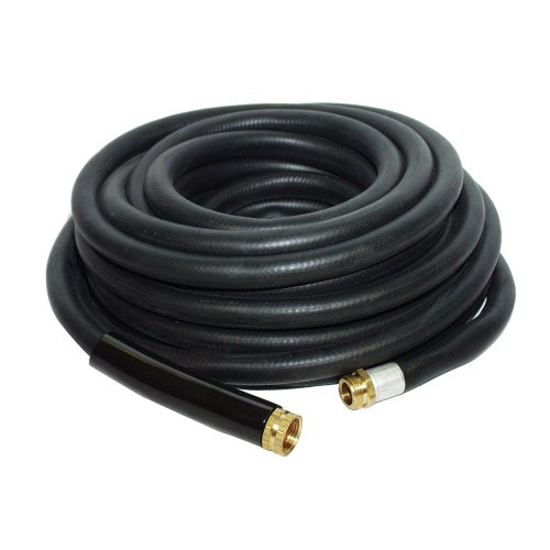 Apache 98108809  34&quot X 100 Industrial Rubber Water Hose Assembly With Male X Female Garden Hose Thread Fittings