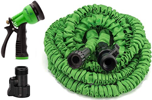 Growgreen Garden Hose 50 Feet Strongest Hose Water Hose Expandable Hose Best Hoses With Free 8-way Spray