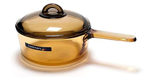 Luminarc Heat Resistant Glass Saucepan Cookware with matching Lid 15L 158 Quarts
