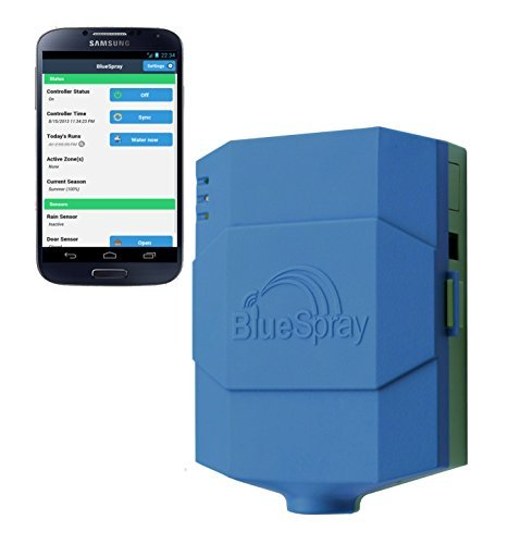 BlueSpray 8  16  24 Zone Smart Wifi Sprinkler Controller Timer Residential or Commercial Watering Irrigation System 16 Zone Wireless Unit by BlueSpray