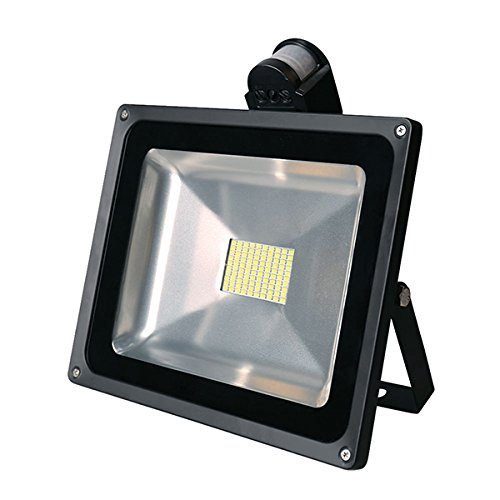 20W 30W 50W 80W High Power SMD Motion Activated LED Floodlight with PIR IP65 Warm White Waterproof Security Sensor Flood Light Outdoor Garden Lighting