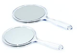 Table or Hand Vanity Mirror male up Set of 2 Mirror Large and Small