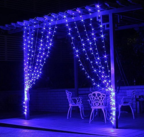 Zstbt 300led Linkable Window Curtain Icicle Fairy String Lights For Christmas Wedding Patio Lawn And Garden Decoration