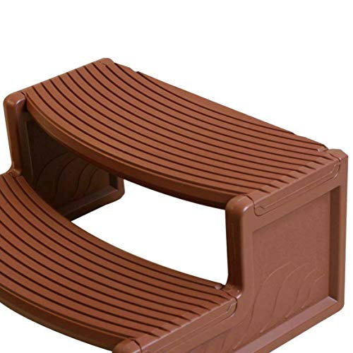 New Pool Equipment Parts Confer Plastics HS2 Mahogany Resin Handi-Step for Spa and Hot Tubs