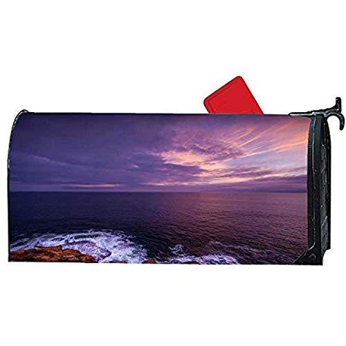 Diuangfoong Lighthouse and House Magnetic Mailwrap Mailbox Makeover Cover Vinyl Size 65 X 19 Inch