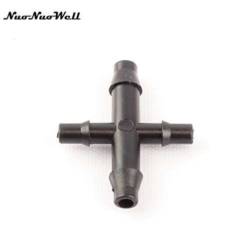 Garden Water Connectors 20Pcs 47 to 35Mm Four Ways Barbed Connectors for 35 47Mm Hose Connector Garden Drip Irrigation System Cross Joint