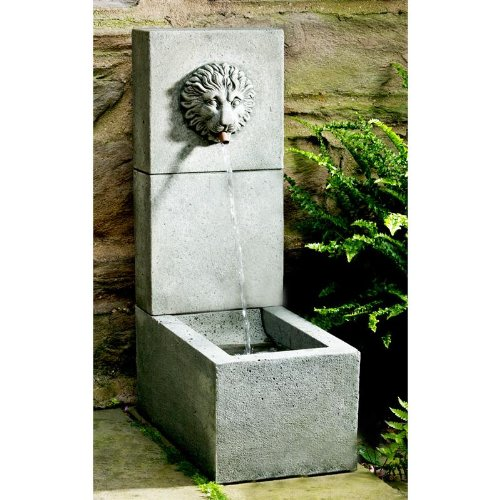 Lion Element Cast Stone Fountain Finish Alpine Stone