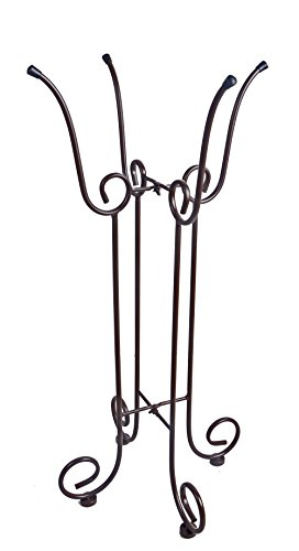 Continental Art Center Metal Bird Bath Stand 17 by 17 by 33-Inch