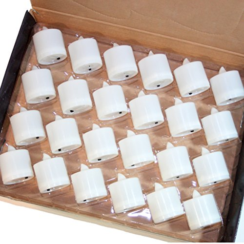 Home Battery operated Tealight Candles Flameless 1 Box 24Piece