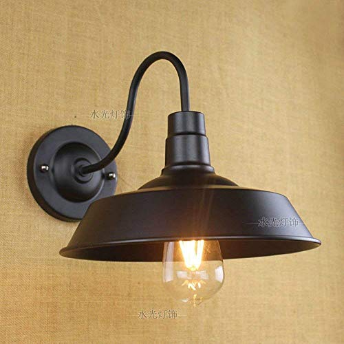 FengHe Black Wall Sconce Gooseneck Wall Light Industrial Barn Lights Vintage Farmhouse Wall Lamp E27 Indoor Wall Porch Decorated Kitchen Restaurant Aisle