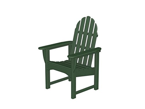 Recycled Earth-Friendly Outdoor Patio Adirondack Dining Chair - Forest Green
