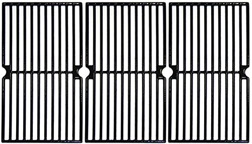 Hongso 17 34 Inch Porcelain Coated Cast Iron Cooking Grid Grate Gas Grill Replacement part for Brinkmann 810-7490-F 810-8410-F 810-8410-S 810-2410-S 810-2411-F Charmglow 810-8410-F PCD103 3-Pack