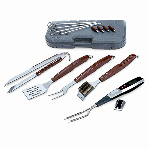 BBQ Cooking Grill Utensils 17 Piece Stainless Steel Barbeque Grilling