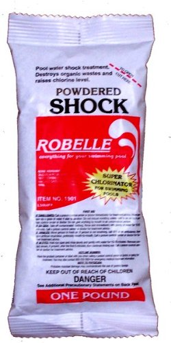 Robelle 68 Calcium Hypochlorite Powdered Chlorine Shock For Swimming Pool 48x1 lb Bags