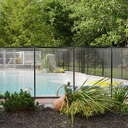 9TRADING Swimming Pool Fence 4 x12 Water Safety Barrier Removal able AboveIn-Ground