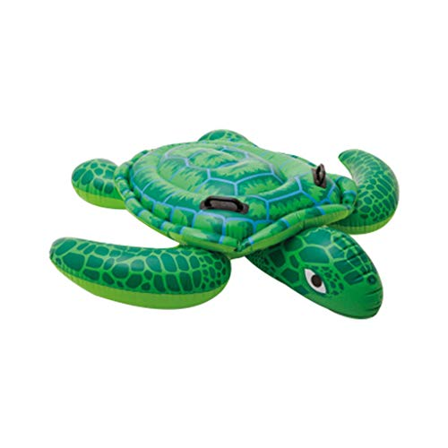Yeefant Floating Row Swimming Ring Turtle Shape Adult Water Animals Mount Child Inflatable Toys Swimming Ring Floating Row Floating Bed Water Cushion Inflatable Bed Water Play Tool for KidAdult