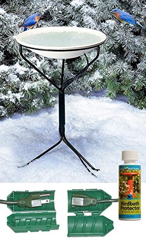 Api 970 Heated Bird Bath W Metal Stand Cord Connectoramp Cleaner